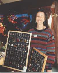 Me at one of the Craft Fairs in the Findhorn Foundation